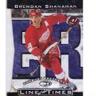 Brendan Shanahan 1997-98 Donruss Preferred Line of Times #2-C Red Wings, Blues