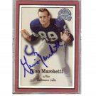 Gino Marchetti Autographed Card - Baltimore Colts, HOF