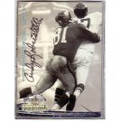 Andy Robustelli Autographed card  New York Giants, Los Angeles Rams HOF
