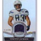 Vincent Jackson 2010 Bowman Sterling Game Jersey Refractor #BSR-VJ Bucs, Chargers #019/299