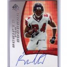 Roddy White 2005 SP Authentic Scripts for Success Autograph RC #SS-RW Falcons