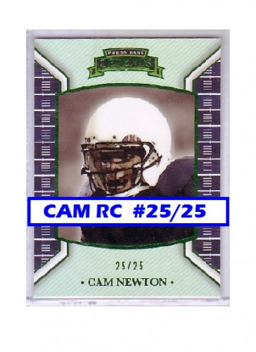 Cam Newton #25/25 RC 2011 Press Pass Legends Emerald #2 RC Panthers