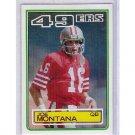 Joe Montana 1983 Topps #169 49ers HOF