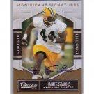 James Starks 2010 Classics Significant Signatures Autograph RC Packers #/499