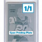 1/1 Thomas Jones 2009 National Chicle Cyan Printing Plate #188
