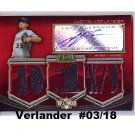 Justin Verlander #/18 2010 Topps Triple Threads Autographed Relics #TTAR-120 Tigers