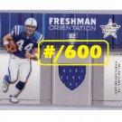 Dallas Clark 2003 Leaf R&S Freshman Orientation Jersey #FO-25  RC Colts