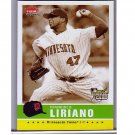 Francisco Liriano 2006 Fleer Black/White Parallel RC #186 Twins Pirates