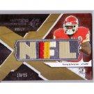 Larry Johnson 2008 SPx Winning Materials NFL Patch 25 #WM-LJ Chiefs #18/25