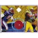1997 Edge Masters Super Bowl Game Ball Diamond #5 Packers Jackson/Coates