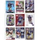 Hakeem Nicks 9-Card Lot Giants Colts
