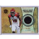 A.J. Green 2011 Panini Gold Standard Gold Leaf Rookies Jersey #4 Bengals RC #/299