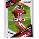 #/50 Michael Crabtree 2009 Score Inception Scorecard #372 RC 49ers
