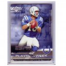 Peyton Manning 2005 UD Plays of the Week Insert #PW-10 Colts, Broncos