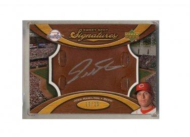 Josh Hamilton #/25 RC 2007 Sweet Spot Glove Leather Silver Signatures Autograph #SS-JH