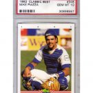 Mike Piazza 1992 Classic Best #345 PSA 10 Gem Mint Dodgers, Mets, Padres