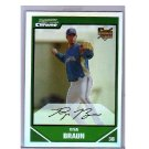 Ryan Braun RC REF 2007 Bowman Draft Picks & Prospects Chrome Refractor #BDP50 RC  Brewers
