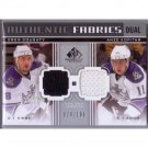 Kings Drew Doughty & Anze Kopitar 2011-12 SP Game Used Edition Authentic Fabrics DualAF2-KD