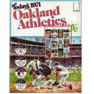 1971 Dell Oakland A's Official MLB Stamp Album 2 Uncut sheets of 24 Stamps Jackson, Hunter, Fingers