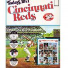 1971 Dell Todays Cincinnati Reds Official MLB Stamp Album w/24 Player Stamps Rose, Bench, Perez