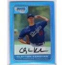 Clayton Kershaw 2013 Bowman Blue Sapphire 1st Bowman Card RC Reprints Refractor #DP84 Dodgers