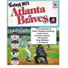 1971 Dell Atlanta Braves Official MLB Stamp Album w/24 Player Stamps: Hank Aaron, Cepeda, Niekro