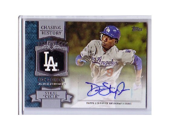 Dee Gordon 2013 Topps Chasing History Autographs 'Steal Cycle' #CHA-DGO Dodgers