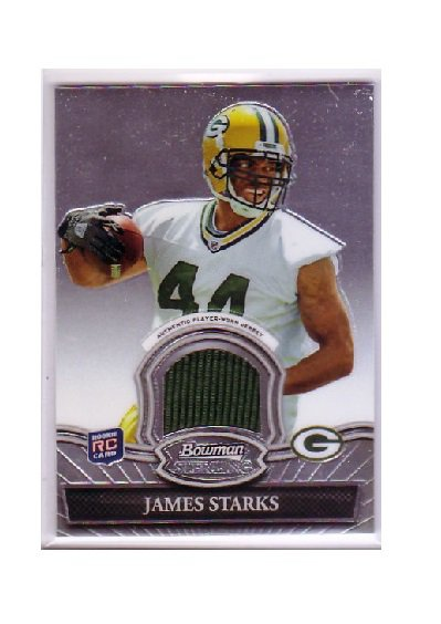 James Starks 2010 Bowman Sterling Rookie Jersey #BSR-JS Packers