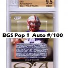 Philip Rivers 2004 Sage Hit Autographed #/100 RC #QA-17 Chargers BGS 9.5/10 Population 1