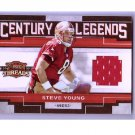 Steve Young 2010 Threads Century Legends Authentic HOF Jersey #4 49ers #/175