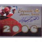 Howie Kendrick #/50 2007 Exquisite Signature Materials Rookie Autographs #ESM-HK Dodgers
