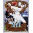 Mark McGwire 1999 Pacific Private Stock Die-cut insert #21 A's, Cardinals