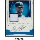 Jose Reyes #03/03 2004 Autographed Jersey Flair Cuts & Glory #CAG-JR Mets Marlins Blue Jays