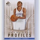 Russell Westbrook RC 2008-09 SP Authentic Profiles #AP-49 Thunder OKC