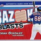 Adrian Gonzalez 2004 Topps Bazooka Blasts Game-used bat #BB-AG Dodgers, Red Sox, Rangers