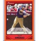 Adrian Gonzalez 2007 Bowman Orange #161 Dodgers, Red Sox, Rangers #/250