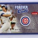 Ryne Sandberg 2004 Fleer Greats Forever #14F Cubs #1981 HOF