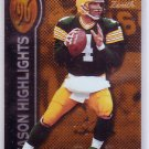 Brett Favre 1997 Pinnacle Zenith Season Highlights #139 Packers, Vikings
