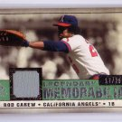 Rod Carew #/29 2008 SP Legendary Cuts Memorabilia #LM-CA Angels HOF