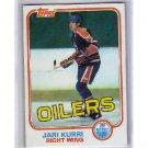 Jari Kurri RC 1981-82 Topps #18 Oilers, Kings, HOF