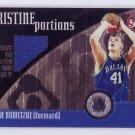 Dirk Nowitzki 2001-02 Topps Pristine Pristine Portions #PP-DN Mavericks