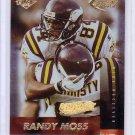 Randy Moss 1999 Collector's Edge Fury Gold Ingot #103 Vikings Raiders Patriots