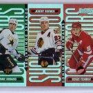 1996-97 Donruss Dominators #9 SP #/5000 Modano, Federov, Roenick HOF