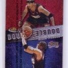 Allen Iverson 1999-00 Topps Finest Double Double #D12 76ers HOF