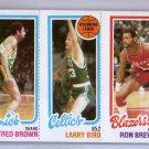 Larry Bird RC 1980-81 Topps #FBLBRB Fred Brown, Ron Brewer Celtics HOF