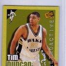 Tim Duncan RC 1997 Press Pass Double Threat Retroactive #1 Spurs