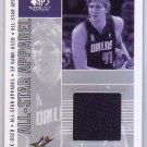Dirk Nowitzki 2002-03 SP Game Used Edition All-Star Apparel #DN-AS Mavericks