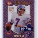 John Elway 1994 Collector's Edge Excalibur Gold Shield #6 Broncos