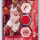Elton Brand 2007-08 Stadium Club Full Court Press Relics Gold #FCPTR-EB Clippers, 76ers #/50