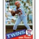 Kirby Puckett RC 1985 Topps #536 Twins, HOF Rookie
